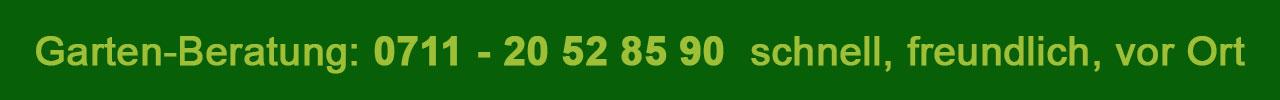 Rufen Sie uns an: 0711 - 20 52 85 90